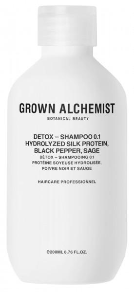 "Grown Alchemist HAIR ""DETOX Shampoo 0.1 Hydrolized Seidenprotein, Schwarzer Pfeffer, Salbei"""