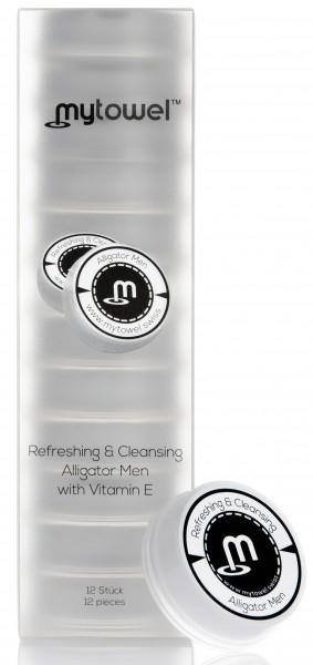 mytowel - Refreshing & Cleansing Tuch ALLIGATOR MEN mit Vitamin E in 12er Box