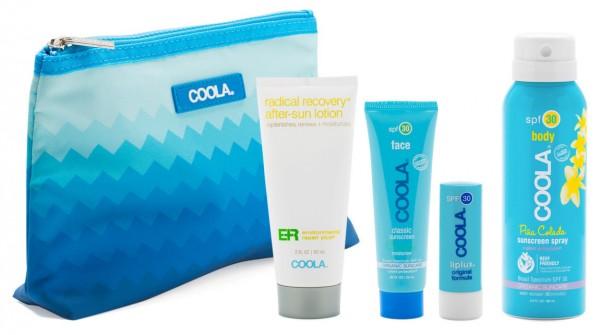 Coola® Organic SIGNATUR TRAVEL KIT - Sport Spray, Moisurizer, Liplux und After Sun Lotion