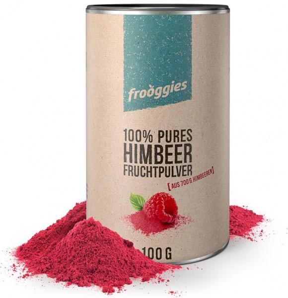 Frooggies Fruchtpulver HIMBEERE - Fruchtpulver aus 700g frischen Himbeeren - 100% natürlich!