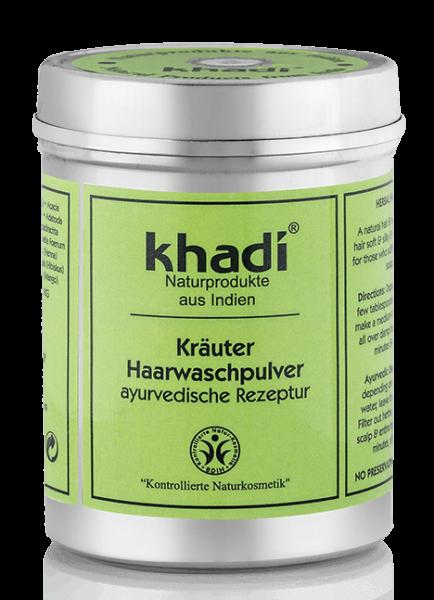 khadi Haarwaschpulver KRÄUTER - Sanfte Reinigung - Poudre aux Herbes à laver