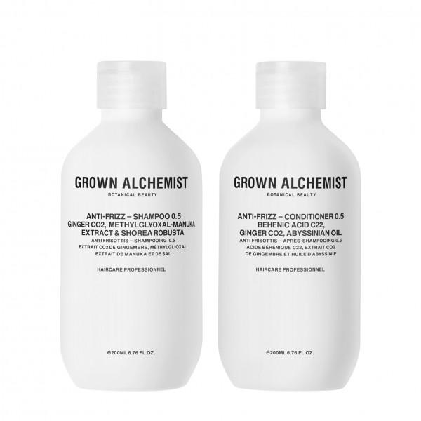 """Grown Alchemist HAIR """"ANTI-FRIZZ Haircare Twinset 0.5 - Shampoo und Conditioner"""