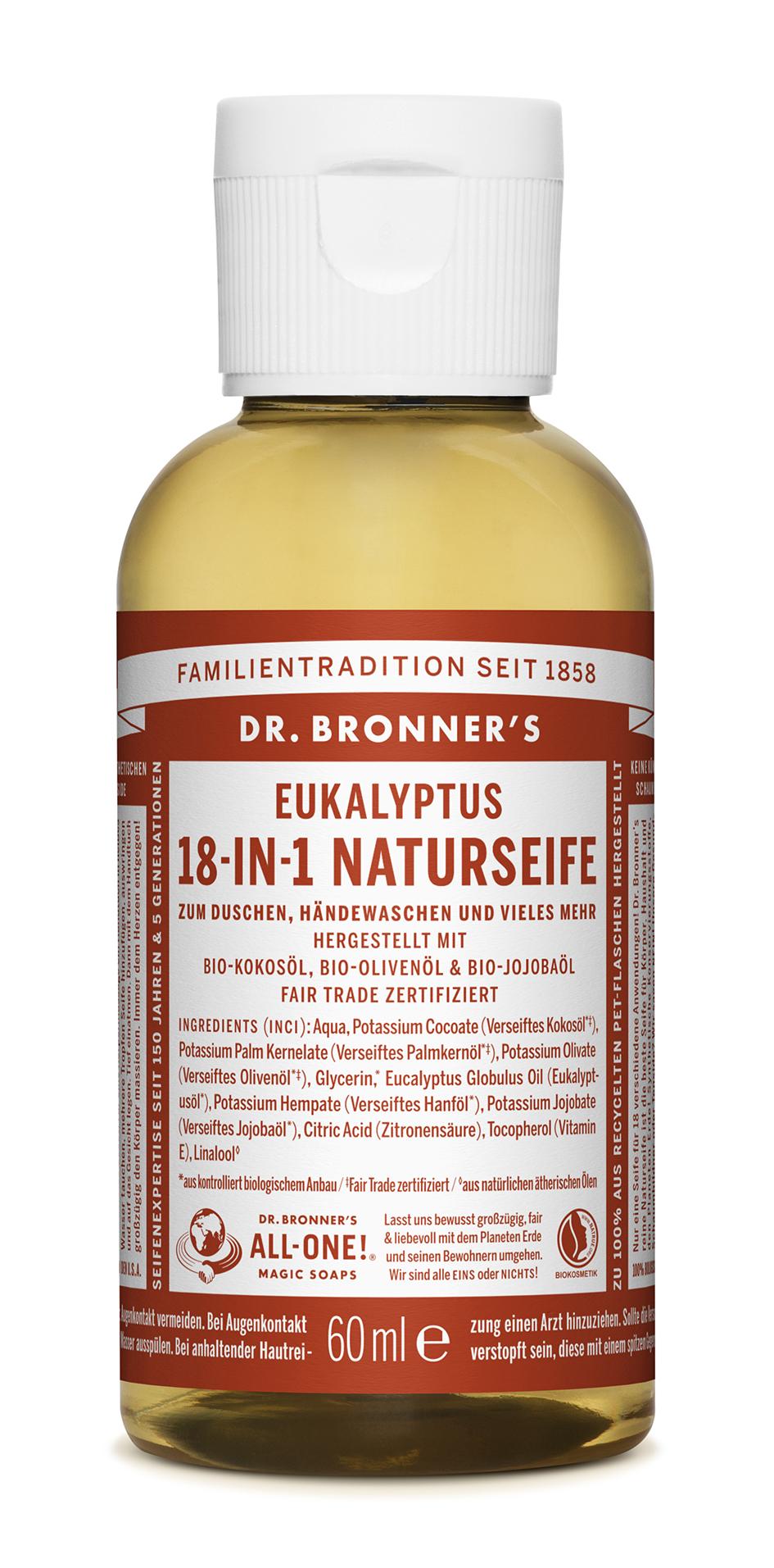 dr bronners liquid soaps eukalyptus puresense. Black Bedroom Furniture Sets. Home Design Ideas