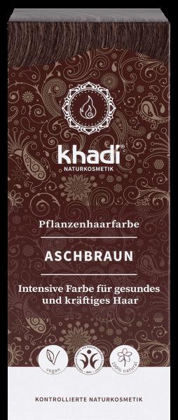 khadi Pflanzenfarbe ASCHBRAUN - mattes, mittleres Braun ohne Rotanteile