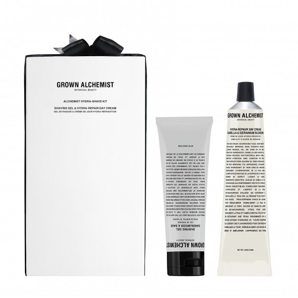 "Grown Alchemist CLEANSE + ACTIVATE ""Mens Hydra Shave Kit"" Shaving Gel & Hydra Repair Day Cream: SET"