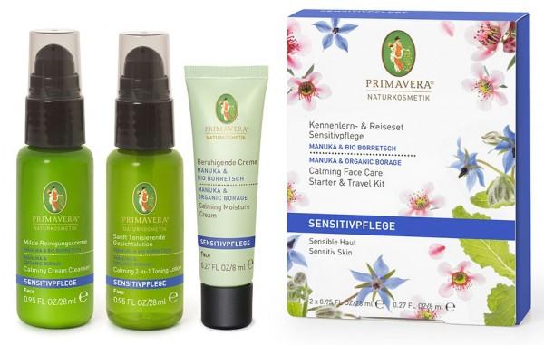 Primavera KENNENLERNSET SENSITIV MANUKA (früher Kamille) & BIO BORRETSCH - für sensible Haut