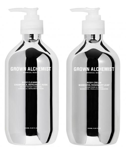Grown Alchemist X-Mas Body Cleanser & Bod Cream 500ml Silver Edition in einem Geschenksset