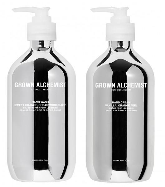 """Grown Alchemist SET HAND """"Hand Wash & Hand Cream"""" Silver Limited Edition Geschenkset"""