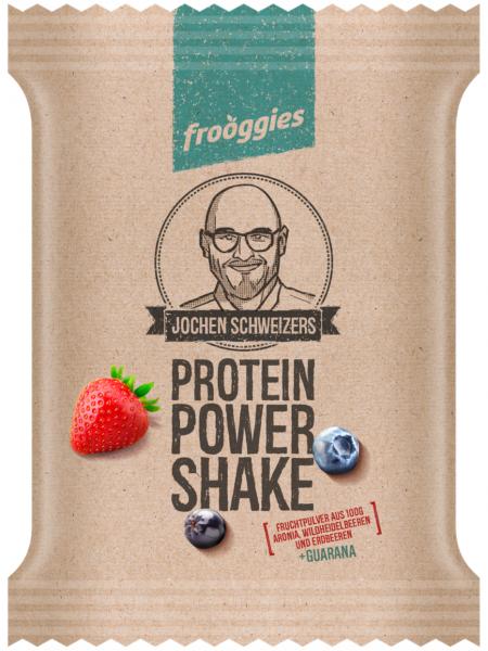 Frooggies PROTEINE POWER SHAKE - Fruchtpulver aus 100g Aronia, Wildheidelbeeren, Erdbeeren & Guarana