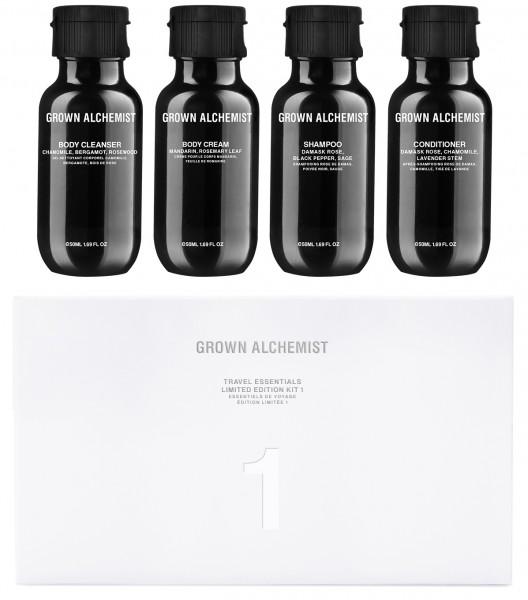 Grown Alchemist TRAVELKIT Limited Edition 1- Pflegeset Body Cleanser, Cream, Shampoo & Conditioner