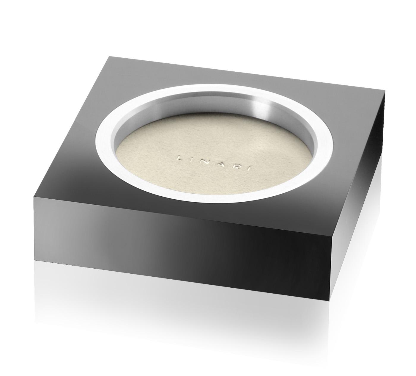 linari square base untersetzer acryl schwarz mit. Black Bedroom Furniture Sets. Home Design Ideas